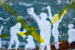 The Drowned and the Saved, Mural, Mitilini, Lesvos, 10 June 2016 (Dr John2005) Tags: colour yellow painting mural turquoise refugees aegean greece lesvos migration mitilini johnperivolaris