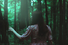 wander and lost (Moonless_Nigth_and_Melancholy) Tags: light woman girl beauty dark woods mysterious dreamy conceptual
