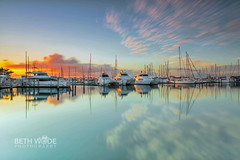 Marina Magic - Explored 20/06/2016 (Beth Wode Photography) Tags: morning clouds marina sunrise reflections boats dawn harbor harbour beth queensland yachts masts catamarans herveybay sunriseclouds wode bethwode