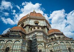 Duomo Santa Maria del Fiore (elzauer) Tags: city travel roof sky italy history tourism church monument colors beauty horizontal architecture facade outdoors photography cityscape cathedral postcard religion it symmetry unescoworldheritagesite unesco tuscany cupola dome backgrounds firenze christianity marble toscana oldtown vacations travelagency florenceitaly southerneurope duomosantamariadelfiore cloudsky traveldestinations famousplace buildingexterior nationallandmark constructionindustry internationallandmark italianculture europeanculture builtstructure