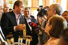Pedro Passos Coelho em visita à Feira Nacional de Agricultura