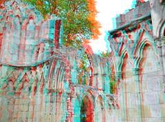Saint Mary's Abbey York 3D (wim hoppenbrouwers) Tags: york abbey saint 3d anaglyph stereo marys redcyan saintmarysabbey york3d