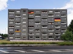 Hochhaus am Rhein in Monheim (KL57Foto) Tags: architecture pen germany deutschland am fenster olympus architektur nrw em rhein gebude rheinland rhineland monheim 2016 baumberg monheimamrhein epm2 stadtmonheim kl57foto stadtmonheimamrhein em2016