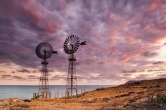 Windmill under clouds (pajavi69) Tags: sunset costa windmill clouds landscape atardecer nikon mediterraneo paisaje viento murcia le nubes nd puestadesol cartagena aire 1224mm cala molinos airelibre largaexposición filtros calblanque longeexposure espacionatural d7100 orilladelmar naturalspace