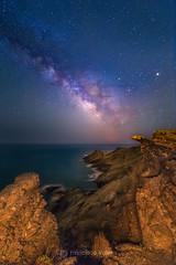 El fin del mundo (Fran Valera) Tags: noche murcia astrofotografia estrellas acantilado milkyway fotonocturna víaláctea calblanque