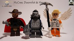 McCree, Doomfist & Mercy from Overwatch (Pls read desc) (Random_Panda) Tags: game video lego fig character games figure characters minifig minifigs figures figs minifigure overwatch minifigures