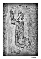 Praying to God (Artico7) Tags: old blackandwhite bw italy art church monochrome saint painting blackwhite fuji god faith pray praying andreas christian dome figure sacred simple biancoenero friuli udine feith venzone sanandrea jeasus xe1 saintandreas