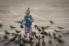 The Joy of Childhood (Harry2010) Tags: venice bird girl happy child pigeon feed venezia piazzasanmarco stmarkssquare