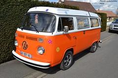 VW Kombi (Monde-Auto Passion Photos) Tags: auto orange france vw volkswagen automobile courtenay kombi campingcar camionnette fourgonnette