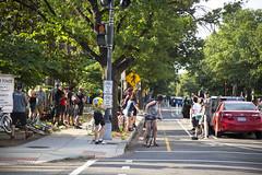 2016 06 10 - 5852 - DC - 15-P Bike Cheers (thisisbossi) Tags: usa bicycling cycling cyclists washingtondc dc nw unitedstates northwest 15thstreet bicyclists separated pstreet bikelanes bidirectional fifteenthstreet bikeways cycletracks