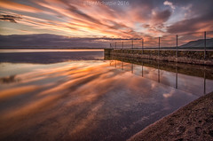 the golden hour (blairmchattiephotography) Tags: sunset night reflections scotland nikon long exposure shot fife loch leven d7000