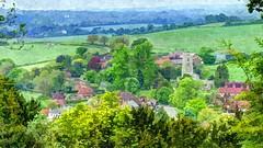 Albury from Ashridge (Phil Wood60) Tags: trees village ashridge albury
