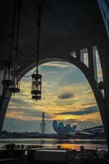 A sunny day (elenaleong) Tags: architecture sunrise singapore marinabay onefullerton elenaleong