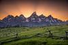 Broken Fence (Travis Klingler (SivArt)) Tags: sunset mountain wyoming grandteton danballard