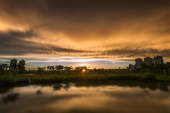 sunset (Isaac Chiu5433) Tags: sunset sky color clouds reflections landscapes     colortemperature