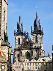 Chrm Matky Bo ped Tnem (bernarou) Tags: old our church lady town europe republic czech god gothic central mother before baroque repblica checa republika czechia tn esk