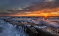 La Jolla Beach on fire (nguyentruyen344) Tags: ca sunset hospital la san diego southern reef jolla