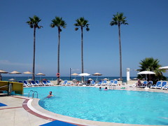 Welcome Summer (R_Ivanova) Tags: blue sea summer sky plant color tree nature water colors pool turkey landscape palm  rivanova