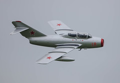 MiG 15 Red 18 N104CJ 006-1 (cwoodend..........Thanks) Tags: airshow mikoyan cosford mig15 2016 rafcosford mikoyangurevich norwegianairforcehistoricalsquadron red18