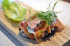 Gravlax (jpellgen) Tags: summer food usa minnesota june america restaurant salad nikon salmon minneapolis sigma swedish norwegian mpls lax twincities mn scandinavian 2016 gravlax lindenhills 1770mm d7000 upton43
