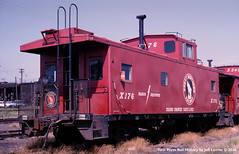 Great Northern X-176 Iron Range Caboose at Superior, Wisconsin 1965 (Twin Ports Rail History) Tags: gn great northern iron range mesabi caboose x176 superior wisconsin 1965 twin ports rail history by jeff lemke time machine