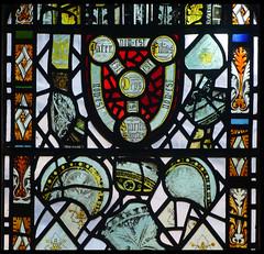 Holy Trinity shield and medieval fragments (Simon_K) Tags: cambridge church university churches colleges stmichael cambridgeshire eastanglia cambs michaelhouse churchess