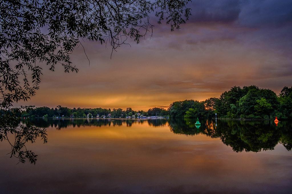 early bird sunrise in june