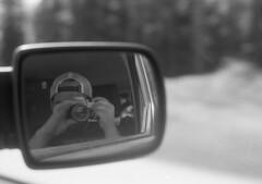 Selfie (yesimahuman) Tags: vacation lake film wisconsin 35mm cabin minolta kodak trix 400 filmphotography srt100 cabinporn