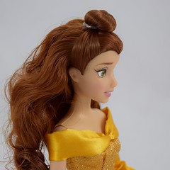 2016 Belle Classic 12'' Doll - US Disney Store Purchase - Deboxed - Standing - Portrait Left Front View (drj1828) Tags: disneystore doll 12inch classicprincessdollcollection 2016 purchase belle beautyandthebeast chip deboxed standing