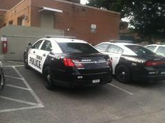 Berea Police Station Parking Lot [1] (Sergiyj) Tags: ohio ford sedan police dodge emergency taurus charger interceptor berea whelen 2013
