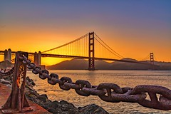 San Francisco Bay (cberganza) Tags: sanfrancisco california city bridge sunset sun water bay cityscape