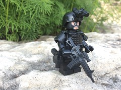 Spec ops soldier (Brick Operator) Tags: army military lego specops brickarms black skimask soldier