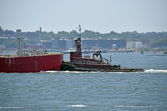 Picture Taken From The Staten Island Ferry Of The Tugboat Marion Moran Pushing A Barge. Photo Taken Monday June 27, 2016 (ses7) Tags: ferry island staten viewtugboat