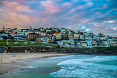 Houses by the Beach (silardtoth) Tags: ocean new travel blue houses sunset red sea summer vacation seascape beach nature water beautiful bondi wales clouds landscape coast sand rocks long exposure background south australia nsw newsouthwales bronte coogee tamarama beachscape