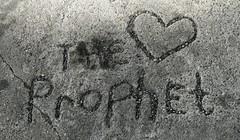 I am.....The Love Prophet (SCOTTS WORLD) Tags: blackandwhite texture love stone concrete graffiti whimsy midwest heart michigan pebbles panasonic engraved motown motorcity russellindustrialartcenter