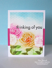 Thinking of You (clare272) Tags: watercolor crafts heat meow stamping technique resist embossing the