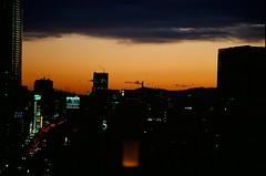 Kodak Ektachrome E100VS // Sunset (Gracia Chua Min Yi) Tags: sunset orange film japan analog canon tokyo kodak gradient positive slides ektachrome e6 e100vs 500n