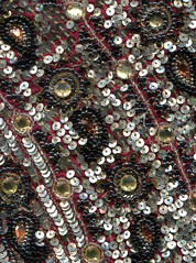 beadwork (Igor Golovnov) Tags: old black detail art texture fashion vintage reflections circle design shiny soft pattern dress needlework antique background sewing rich victorian silk craft jewelry retro sparkle textile fabric bead leisure material elegant oriental satin sheen shining luxury beaded repeat shimmering shimmer needlecraft beadwork luxurious sequin sequined