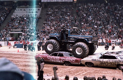 IMG_0066 (Nighthauler Photography) Tags: tractor cars truck pull meadowlands arena crushing bigfoot sled weight
