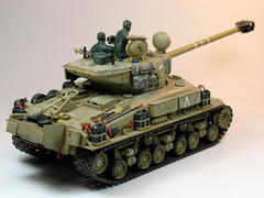 Academy  135 M-51 Super Sherman  Built in 2002  Photo Retaken 2 (My Toy Museum) Tags: tank super kit 135 academy sherman