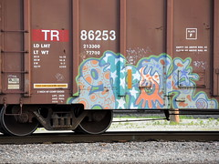 G-Rock (Select1200) Tags: railroad chicago art graffiti midwest trains boxcar graff grok grock benching
