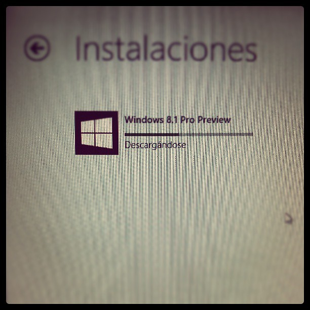 En proceso. #Windows #8.1 #Preview #Download