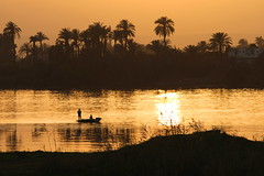 Sunset over the Nile, Jolie Ville Hotel, Luxor, Egypt    {Explore - 23/07/2013 - Highest Position 294} (Andy_Hartley) Tags: sunset fishing fisherman egypt nile explore luxor flickrexplore jolievillehotel photographyforrecreationeliteclub