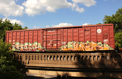 TANK JUNER (The Braindead) Tags: art minnesota train bench photography graffiti painted tracks minneapolis rail explore beyond the