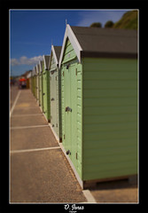 The Green Sheds (Ollie is the Photographer) Tags: blue summer sky green beach photography jones sand ollie huts bournemouth
