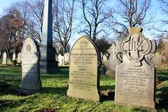 Grave of Henry, Ann & Ida Nicklinson (Hawk Moth) Tags: england cemetery grave graveyard derbyshire rip graves gravestone burial derby chaddesden nottinghamroadcemetery