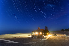 Star Trails over Ludington State Park Beach House (Craig - S) Tags: statepark park nightphotography travel family sunset vacation copyright usa tourism beach water night america stars evening timelapse midwest michigan dunes families lakemichigan nighttime destination grasses beachhouse allrightsreserved startrails ludington bathhouse beachgrass dunegrass westmichigan ludingtonstatepark masoncounty publicbeach michiganstateparks 2013 ludingtonmichigan puremichigan craigsterken publicbeachhouse