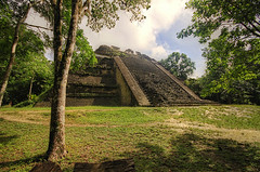 Mayan Pyramids (Matt Champlin) Tags: travel nature canon outdoors ruins pyramid maya guatemala exotic mayan jungle tikal exploration 2013
