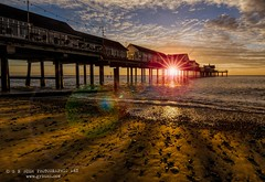 The under the pier show (grbush) Tags: sea sun seascape beach sunrise pier suffolk seaside sand southwold southwoldpier tokinaatx116prodxaf1116mmf28 sonyslta77