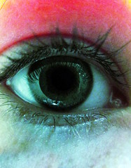 Blurred Perception (Scarlett Nomi) Tags: pink colour macro green eye eyelash 365 project365
